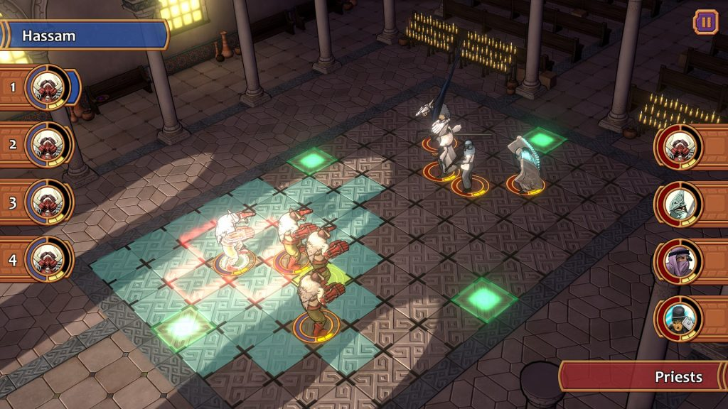 Four character battles