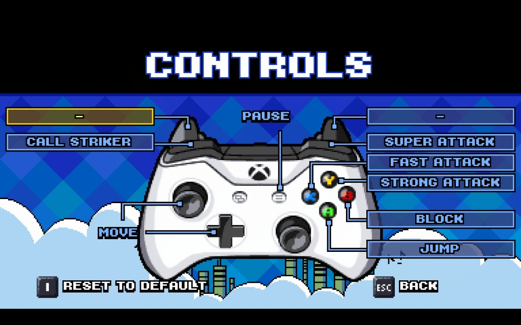 Scott Pilgrim Controls